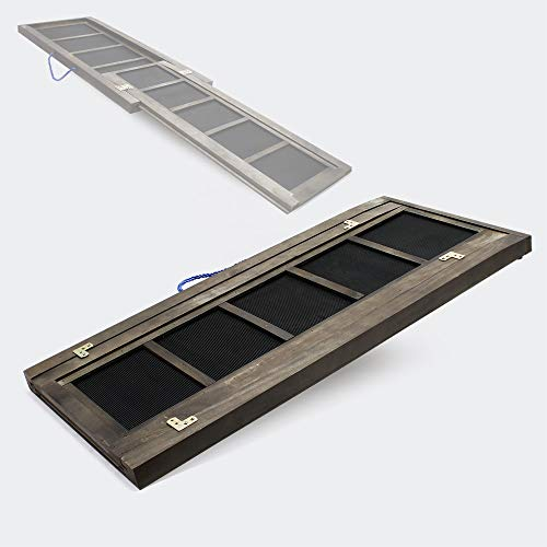 WilTec Rampe Chien télescopique 165x43cm 80kg Aide Chargement Voiture Automobile Accès Escalier Animaux