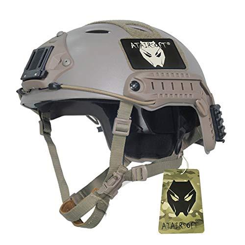 WorldShopping4U PJ Regolabile SWAT Combattere Casco per Airsoft A Caccia Esercito CQB Tattico Paintball DE (M)