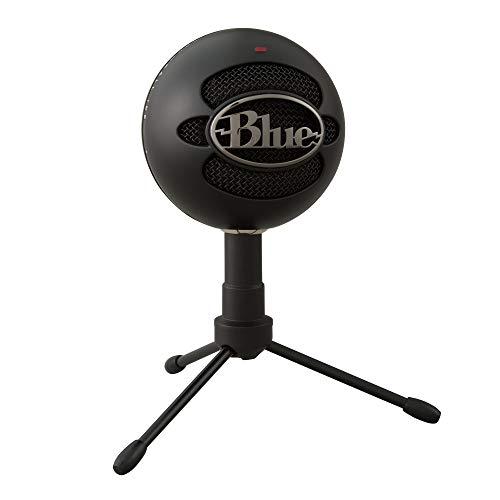 Blue Microphones Snowball ICE - Micrófono para grabación y transmisión en PC y Mac, cápsula de condensador cardioide, soporte ajustable, Plug and Play, Negro