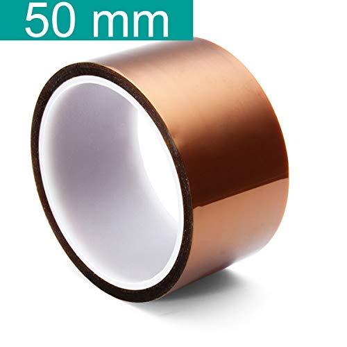 Youmile 5 Größe 5mm 10mm 20mm 30mm 50mm 30m / 100ft BGA Hochtemperatur-Film Hitzebeständiges Polyimid-Kapton-Band Gold, das klebrig ist