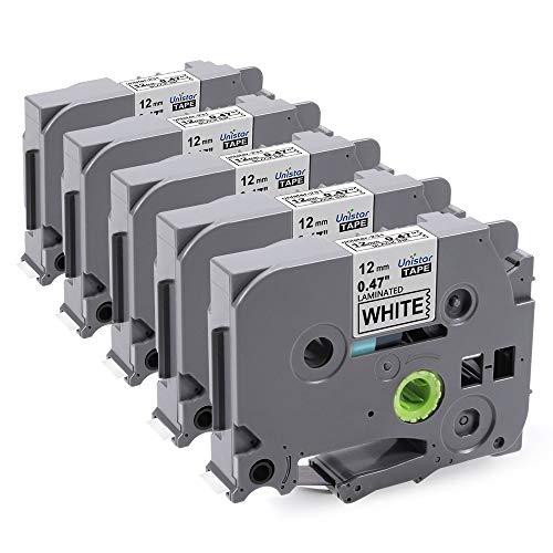 2x Schriftband kompatibel für Brother TZ241 TZ-241 Schwarz-Weiß 18mm PT-1830VP