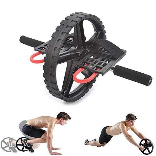 Awningcranks Ab Roller Exercise Wheel Abdominal Muscle Wheel with Automatic Rebound and Intelligent Brake Detachable Handle Ab Rollers Gym Home Fitness Equipmen