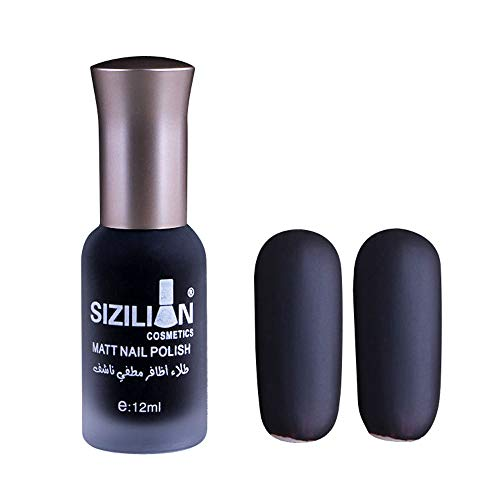 Muranba 12ml Matte Dull Nail Polish Fast Dry Long Lasting Nail Art Matte Nail Polish Gel
