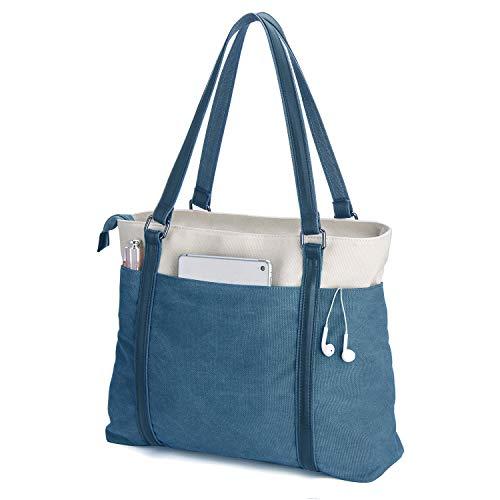 Women's Work Bag with Laptop Compartment Zipper Pockets Large Teacher Totes Purse