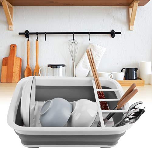 Gedourain Rejilla para secar Platos, Rejilla para Platos Resistente y Duradera Plegable Fácil de Usar para Cocina para Fregadero