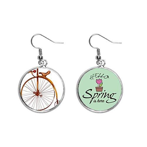 Old Fashioned Bicicleta Alta Wheeler Britain Decoración Cuelga Temporada Primavera Pendiente Joyería