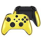 eXtremeRate Cover Joystick Custodia Copertura Frontale con Impugnatura Grip Pannello DIY Ricambio per Xbox Series X S Controller(Oro Cromo)
