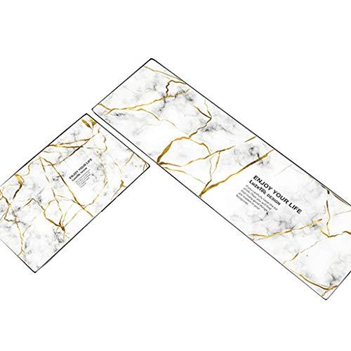 Best Deals! CarPet Kitchen oilproof Waterproof, erasable, Disposable Foot pad, Non-Slip (Color : Whi...