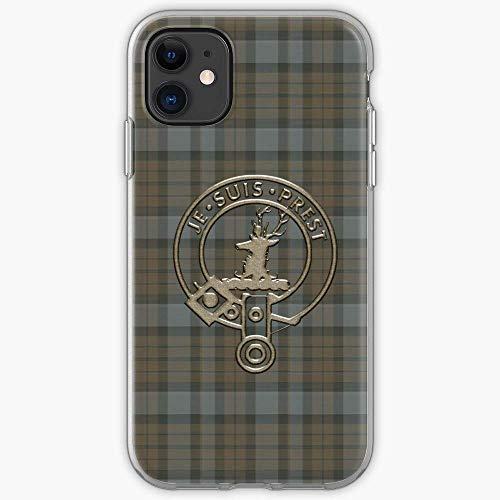 Lravieyew iPhone 11 12 PRO Max XR 6/7/8 SE 2020,Fraser Tartan Plaid Je Suis Prest Clan Outlander Serie AntiGraffio Cover
