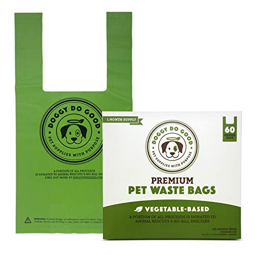 Biodegradable Dog Poop Bags | Compostable Dog Waste Bags, Unscented with Easy-tie Handles,...