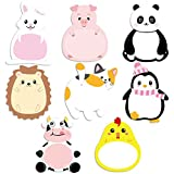 Cute Cartoon Animal Sticky Notes Page Markers Flags in Different Shapes Memo Notes for Students Home Office Use 8 Pads