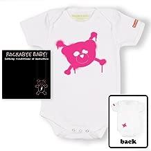 Rockabye Baby! Metallica + 100% Organic Cotton Bodysuit (White/Pink)