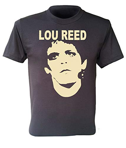 Lou Reed T-Shirt Rock N Roll Animal Band Retro Men Dark Grey Shirt S-3Xl