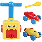 LiféUP Coche de Globo de energía Inercial de Niños, Experimento científico Toy Puzzle Diversión Inercial Power Car Balloon Kid Gift, Amarillo