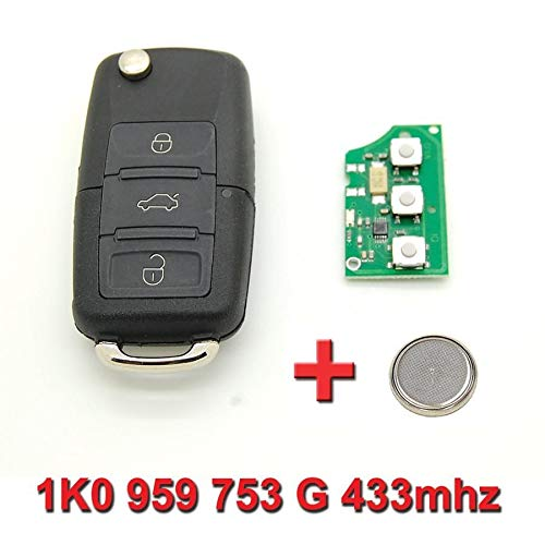 Llave electrónica-Polo con diseño de Golf Volkswagen Passat 1K0 959 753 G, 433 MHz