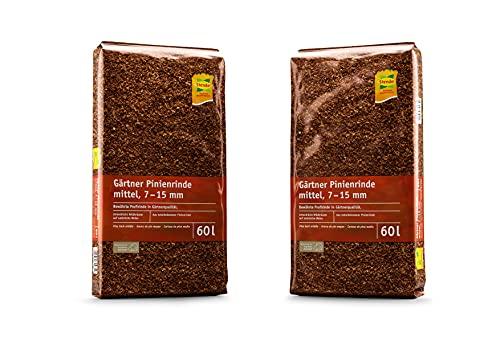 F&T Stender Gärtnerqualität naturbelassene Pinienrinde Mulch Rindenmulch, 7-15 mm, 60 Liter, 25002630