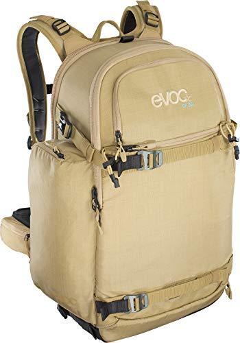 EVOC CP 26l Outdoor Kamerarucksack professioneller Fotorucksack für Fotoequipment (Gepolstert, ergonomisches Tragesystem, Gurtsystem für Eisäxte, Ski, Snowboard oder Stativ), Beige
