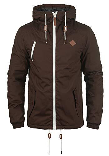 !Solid Tilden Herren Übergangsjacke Herrenjacke Jacke gefüttert mit Kapuze, Größe:L, Farbe:Coffee Bean (5973)