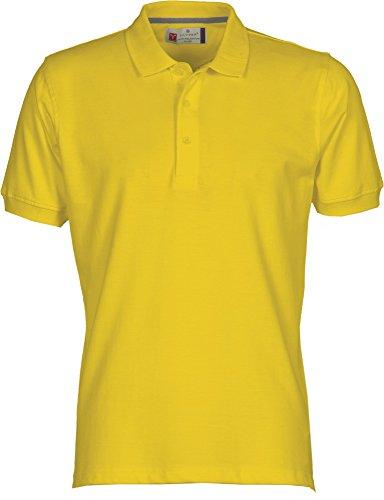 PAYPER PAYPER Herren Polohemd Venice 100% Baumwolle Größe S bis 5XL Kurzarm 3 Knöpfe Nackenband, Farbe:Yellow;Größe:M