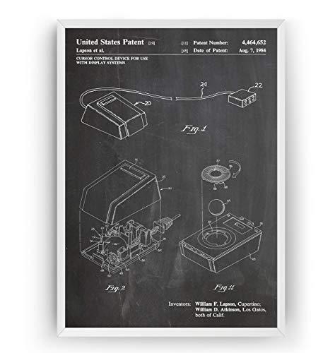 Macintosh Mouse 1984 Patent Poster - Steve Jobs Invention Giclee Print Art Kunst Wall Dekor Decor Entwurf Wandkunst Blueprint Geschenk Gift - Frame Not Included
