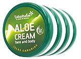 Tabaibaloe Feuchtigkeitscreme für Gesicht und Körper, Aloe Vera, 50 ml, 4 Stück