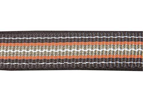 HKM Halfter -Zürich-, weich unterlegt, braun/orange, Warmblut