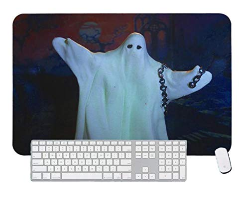 Gaming Mouse Pad Halloween Ghosts Wearing White Clothe for Desktop and Laptop 1 Pack 600x300x3mm/23.6x11.7x1.1 in