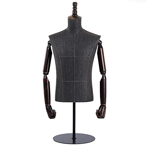 CNNSport Dummies Mannequin Vrouwelijke dummy lichaam bustes, Ronde bodem voor kleding sieraden vitrine vitrine display model, in hoogte verstelbaar