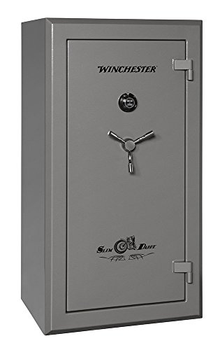 Winchester Slim Daddy Safe- 30 Gun with Electronic Lock- Gunmetal