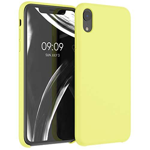 kwmobile Cover Compatibile con Apple iPhone XR - Cover Custodia in Silicone TPU - Back Case Protezione Cellulare Giallo Pastello