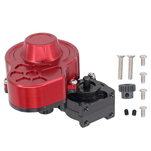 ApplianPar Full Metal 1/10 Scale RC Crawler Transmission Case Gear Box with Steel Metal Gears Assembly for Axial SCX10 RC Car