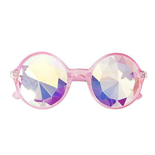 Dorical Unisex Sonnenbrillen, Damen Kaleidoskop-Sonnenbrille lustig Design Brille Schwärmen Festival Party EDM Sonnenbrille gebeugten Linse, Herren Ferien-Brille Sale(C)