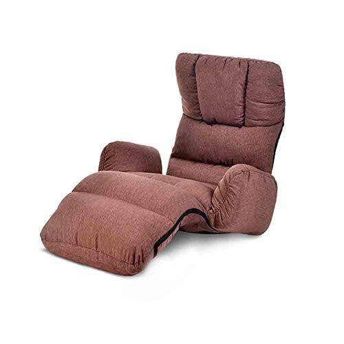 ECSD Salon Canapé-lit Pliant Réglable 8-Position Lounger Sleeper Futon Matelas Chaise Chaise ,Baie Fenêtre Sofa (Couleur : Café Couleur)