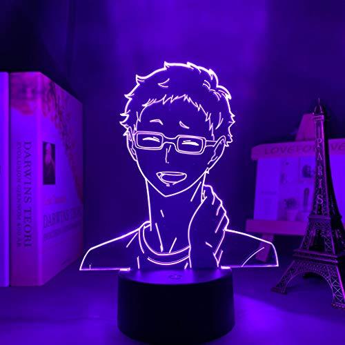 Yu Gi Oh Dark Magician Girl Nuevo 3D óptico Lámpara 3D 16 Color LED Recargable Luz Lámpara de mesa de mesa Decoración hogareña 7 colores Efectos luminosos únicos para Regalo de la Navidad de los niños