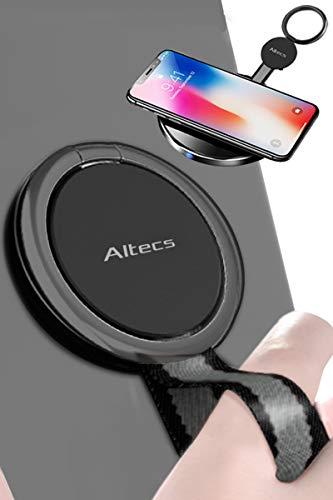 Altecs スマホリング フィンガー グリップ スタンド ワイヤレス充電対応 ホールドリング