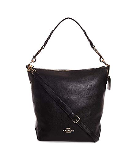 Coach Women's Leather Abby Duffle Shoulder Bag No Size (Im/Black)
