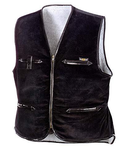 teXXor Arbeitsweste Vega, gefütterte Breitcordweste XL, schwarz, 4200