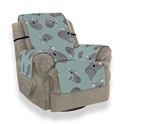 Rtosd Fundas Protectoras de Animales de Koala extático para sillas de Comedor Fundas Protectoras de sofá para Silla de sofá Fundas reclinables Protector de Muebles para Mascotas Gatos para niños