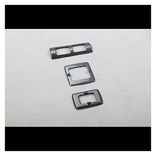 White skin Ajuste para Volkswagen Beetle 2003-2010 3PCS ABS Panel de Recorte de la Puerta del automóvil Tirador de la manija del Interruptor del Interruptor del botón del botón del botón del botón