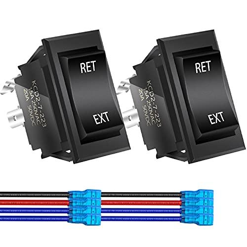 DaierTek Reverse Polarity Toggle Rocker Switch 30 Amp 12V DC Motor Control...