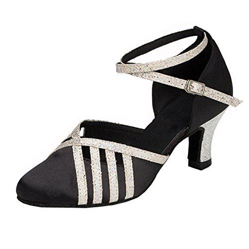 Minitoo , Damen Tanzschuhe , schwarz - schwarz - Größe: 37