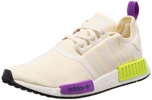 adidas Herren NMD_r1 Fitnessschuhe, Beige (Chalk White/Chalk White/Semi Solar Yellow), 42 2/3 EU