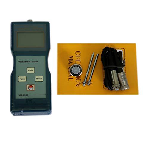 byqtec vm-6320Tragbare digitale vibrtion Messgerät mit Beschleunigung Geschwindigkeit Hubraum Messung Handheld vibrometer Vibration Testen Tools mit Geschwindigkeit Beschleunigung 0,1bis 199,9M/S²