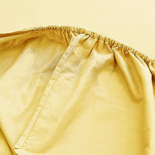 FJMLAY AjustableSábana Bajera,Sábanas Ajustables de Cama de algodón de Color sólido Dormitorio Hotel Individual Doble Cubierta-Green_1_180 * 200cm