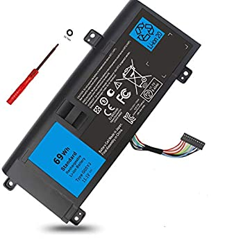 G05YJ Y3PN0 P39G Battery for Dell Alienware 14 A14 M14X R4 R3 ALW14D 14D-1528 ALW14D-1528 ALW14D-4828 ALW14D-5528 14D-5528 14D-4828 ALW14D-5728 14D-5728 14D-4528 1828 2728 4728 1728 5828 0G05YJ 8X70T