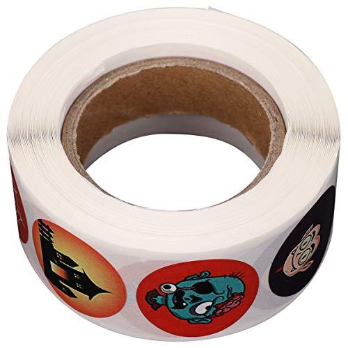 Abaodam 500 hojas de Halloween murciélago fantasma calabaza adhesivo adhesivo para hornear regalos decoración