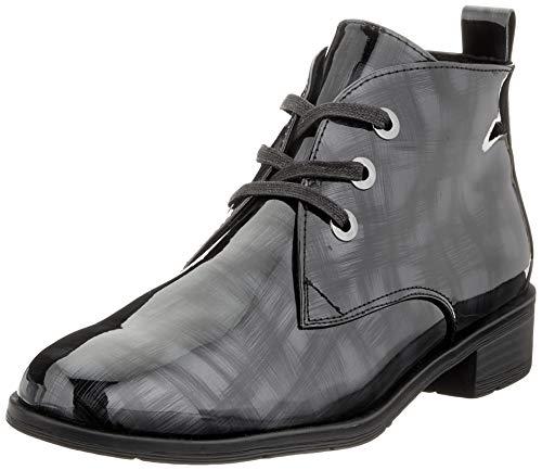MARCO TOZZI Damen 2-2-25120-35 Chukka-Stiefel, Dark Grey Structure Patent, 42 EU