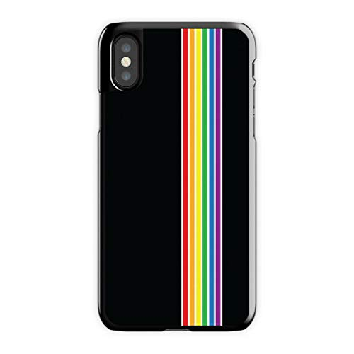 Cell World LLC - Rainbow Pride Gay Lesbian Queer Hard Rubber Phone Case for Apple iPhone X/XS