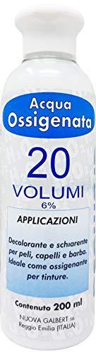 Agua Oxigenada Cremosa 20 Volúmenes para Tintes Nuova Galbert Made In Italy