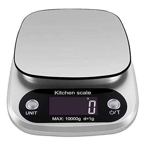 BIGMALL Digitale Küche Lebensmittel Skala 10Kg/1G Edelstahl Wiegen Post Elektronische Waagen Werkzeuge Gewicht Balance